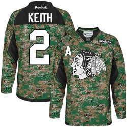 Duncan Keith Chicago Blackhawks Reebok Authentic Camo Veterans Day Practice Jersey