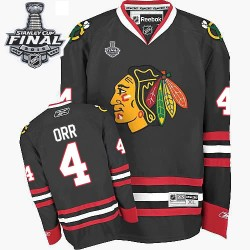 Bobby Orr Chicago Blackhawks Reebok Authentic Black Third 2015 Stanley Cup Jersey