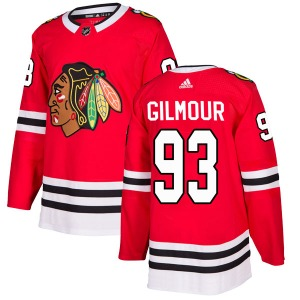 Doug Gilmour Chicago Blackhawks Adidas Authentic Red Home Jersey
