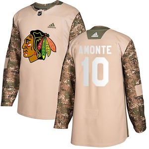 Youth Tony Amonte Chicago Blackhawks Adidas Authentic Camo Veterans Day Practice Jersey